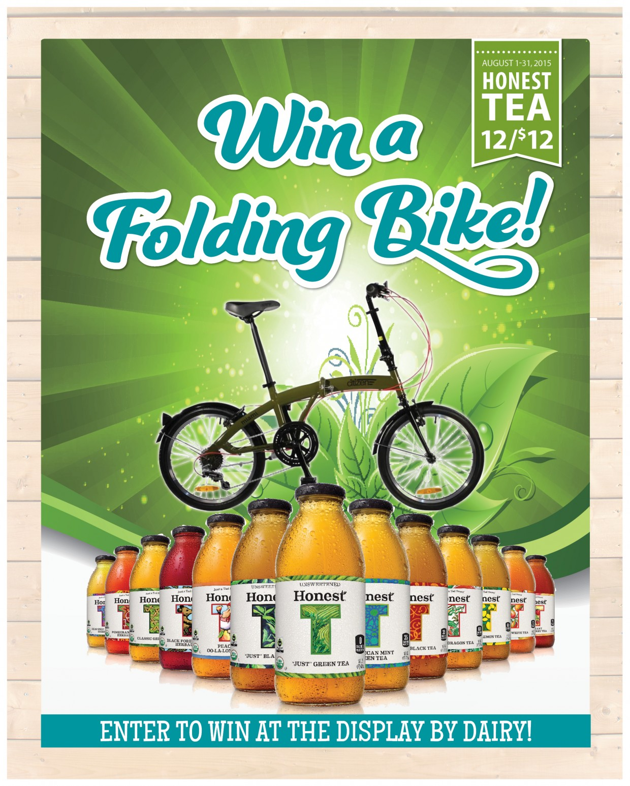Refresh Your Ride: Win a Citizen Folding Bike from Honest Tea!