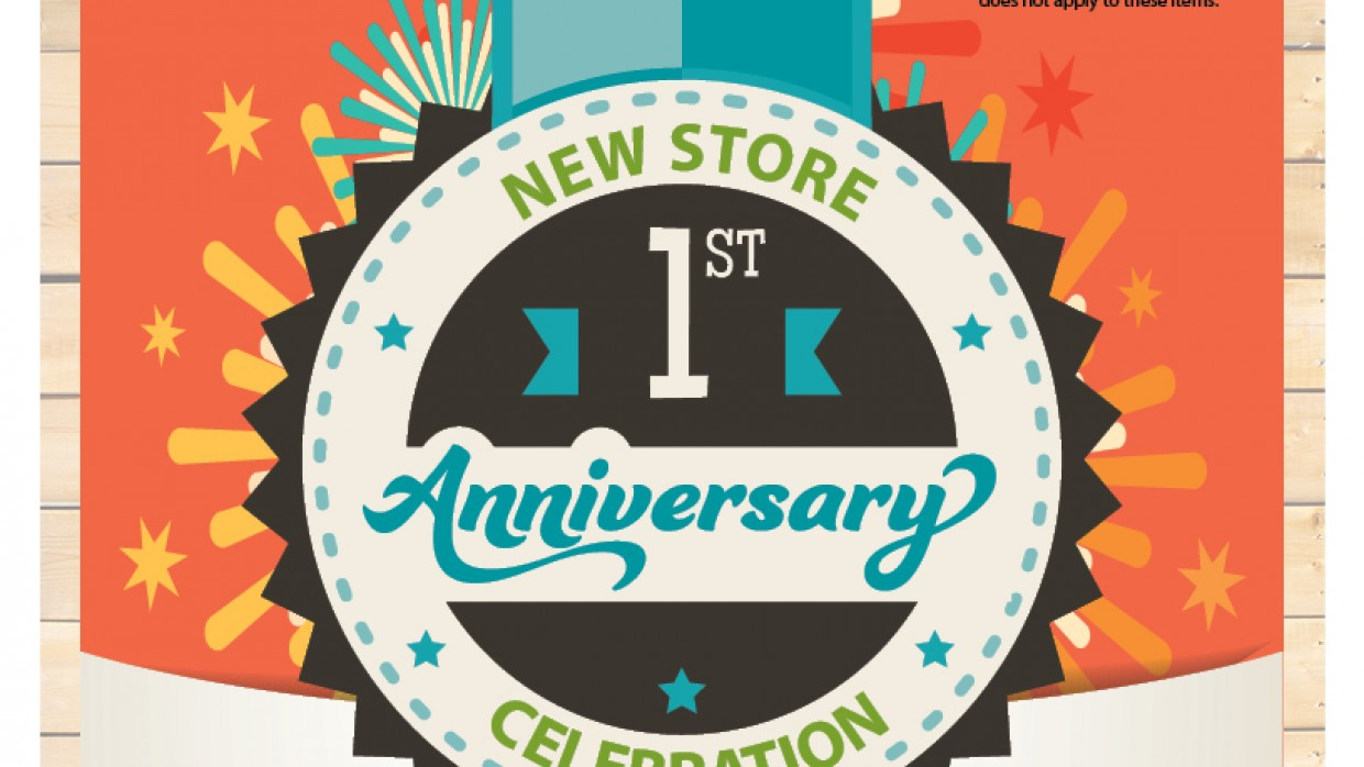 Anniversary Sale: 10% Off Local Products