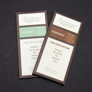 Indulgence Chocolates Peppermint or Gingerbread Chocolate Bars